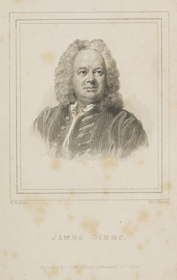 James Gibbs, 1682 - 1754. Architect (1830)