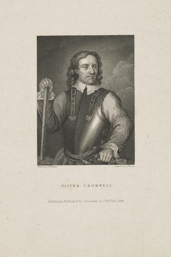 Oliver Cromwell, 1599 - 1658. Lord Protector (1829)