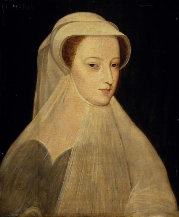 Mary, Queen of Scots, 1542 - 1587. Reigned 1542 - 1567 (In white mourning) (Probably a 19th century replica after an image of 1561)