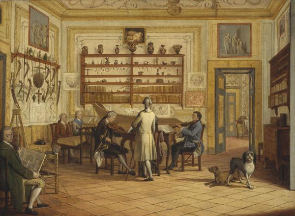 Kenneth Mackenzie, 1st Earl of Seaforth, 1744 - 1781, at home in Naples: concert party (1771)