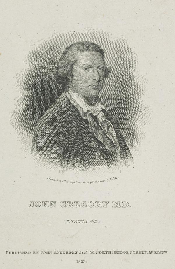 Professor John Gregory, 1724 - 1773 (Published 1828)