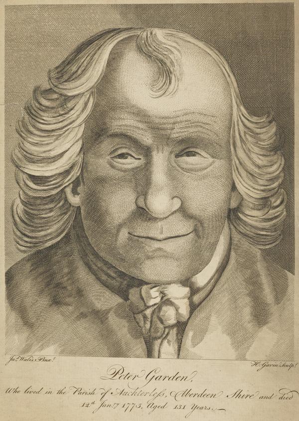 Peter Garden, 1664 - 1775. Centenarian