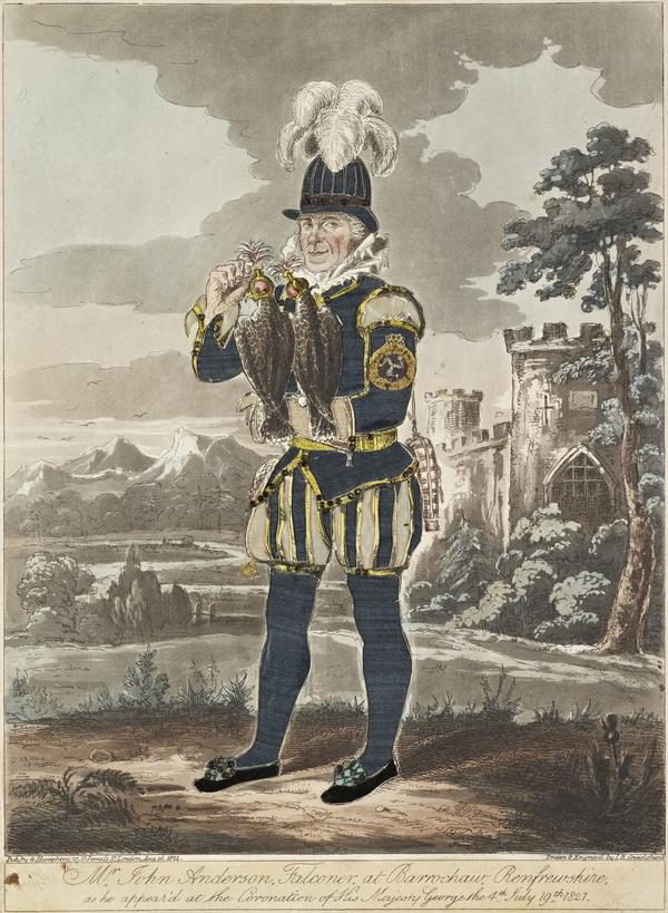 John Anderson, c 1750 - 1833. Falconer, hawksman to Malcolm Fleming of Barochan, the Earl of Morton and Sir Alexander Donne of Ochiltree (Published 1821)