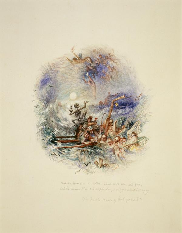 One of Twenty Vignettes -  The Death Boat of Heligoland (About 1835)