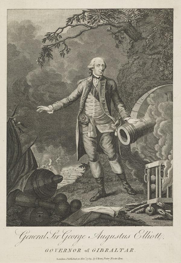 George Augustus Eliott, Baron Heathfield, 1717 - 1790. General; defender of Gibraltar (Published 1783)