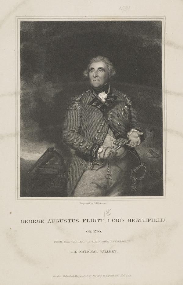 George Augustus Eliott, Baron Heathfield, 1717 - 1790. General; defender of Gibraltar (Published 1833)