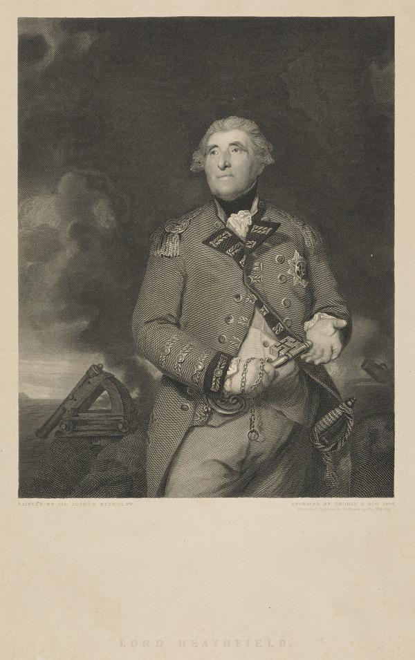 George Augustus Eliott, Baron Heathfield, 1717 - 1790. General; defender of Gibraltar