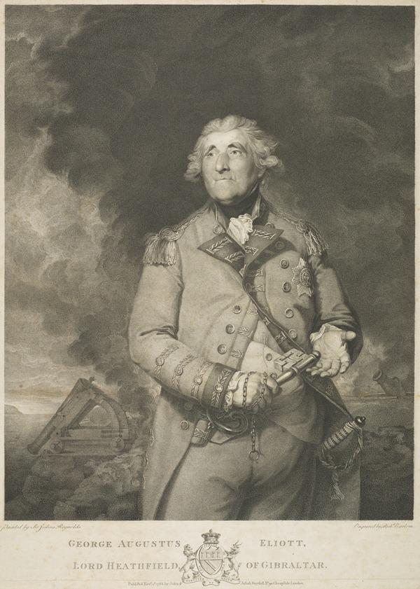George Augustus Eliott, Baron Heathfield, 1717 - 1790. General; defender of Gibraltar (Published 1788)