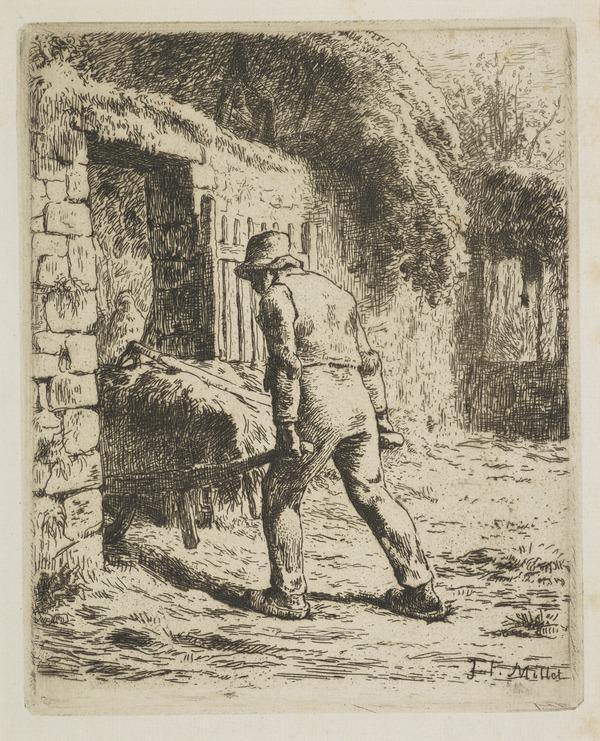 Le Payson Rentrant du Fumier (The Peasant going to the Manure Heap (1855)