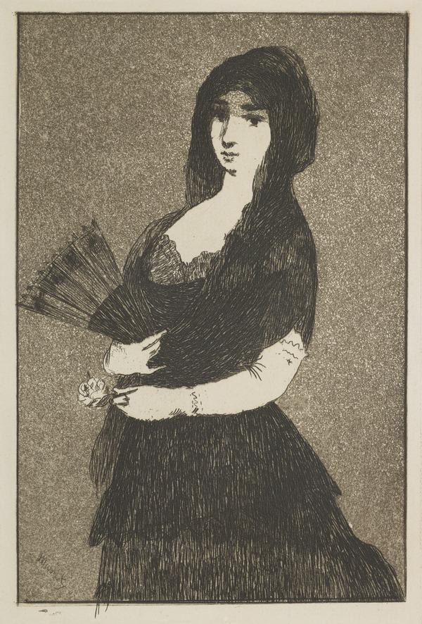 Fleur Exotique [Woman in a Mantilla]