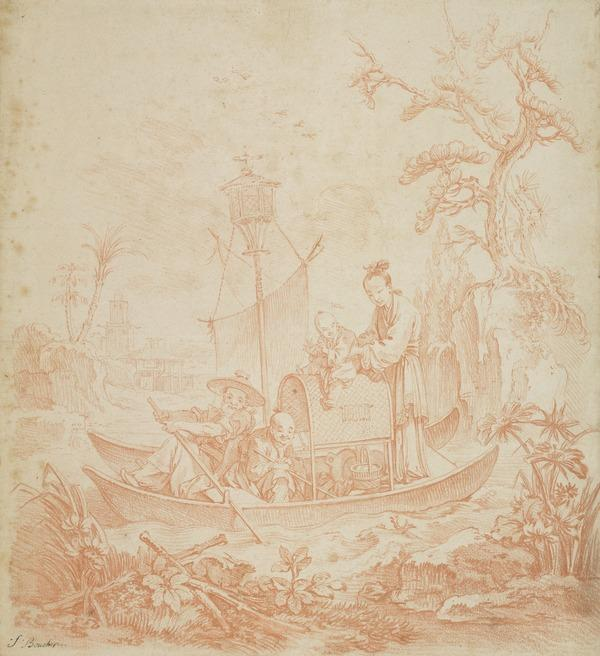Design for a Tapestry: 'La Peche chinoise'