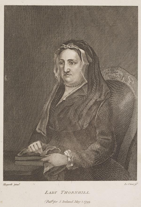 Lady Judith Thornhill (1673-1757), wife of Sir James Thornhill, the painter (1799)