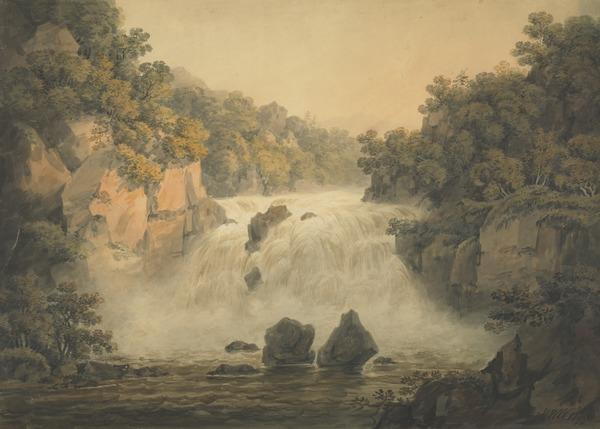The Falls of Clyde. Corra Linn (Dated 1799)