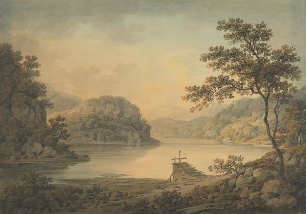 Loch Katrine and Ellen's Isle (Dated 1799)