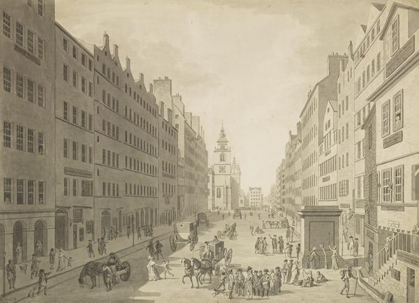 High Street from the Netherbow (Dated 1793)