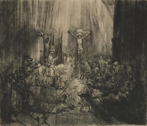 The Three Crosses ('Christ Crucified between the Two Thieves') (About 1660)