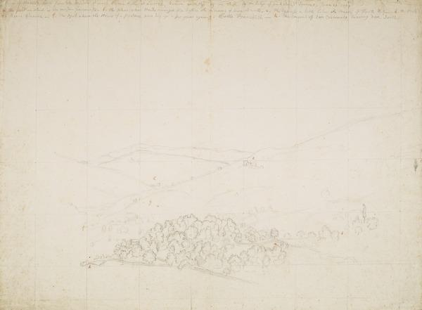 Panoramic View near Licenza (Estimated earliest year: 1728)