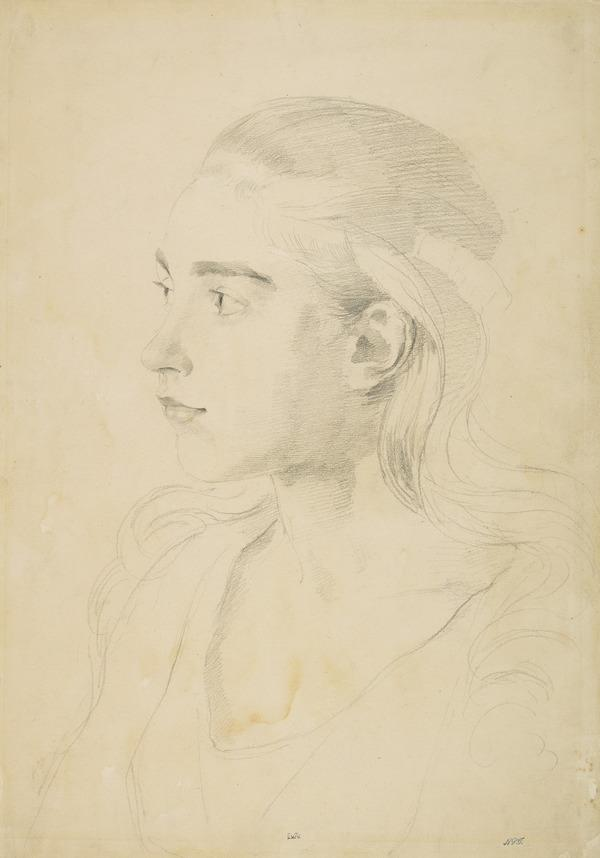 Head of a Girl, Three-Quarters View, Looking Left