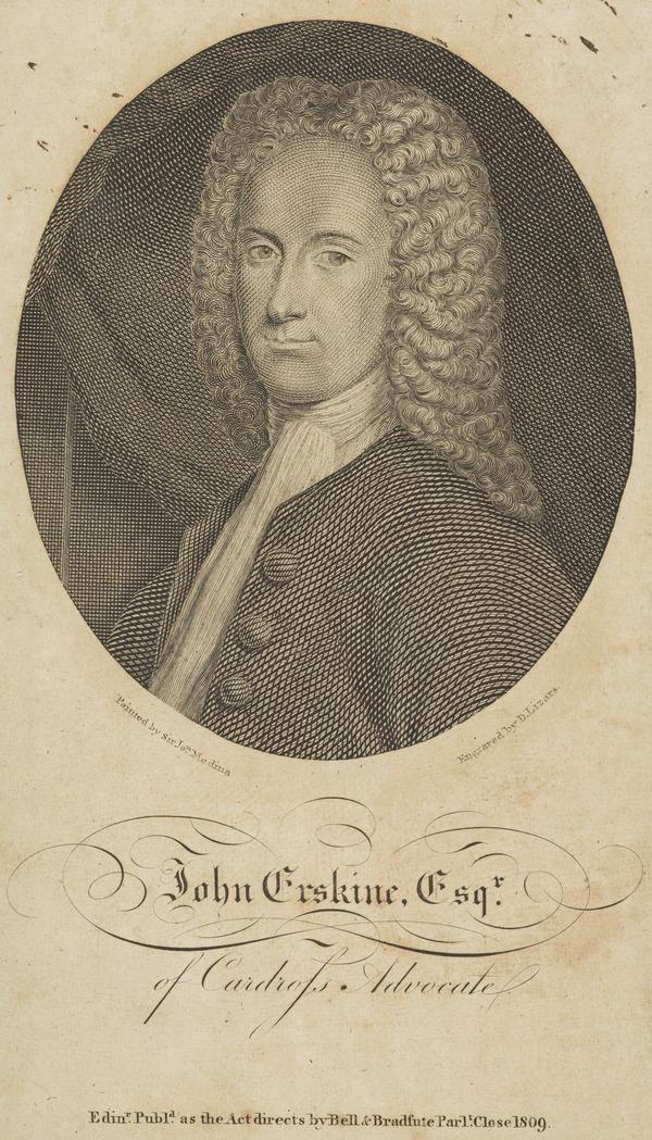 John Erskine of Cardross and Carnock, 1695 - 1768