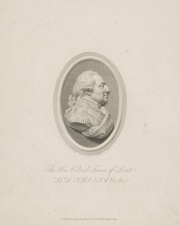 Colonel Archibald Campbell Fraser, 1736 - 1815. British Consul at Tripoli and Algiers (Published 1804)
