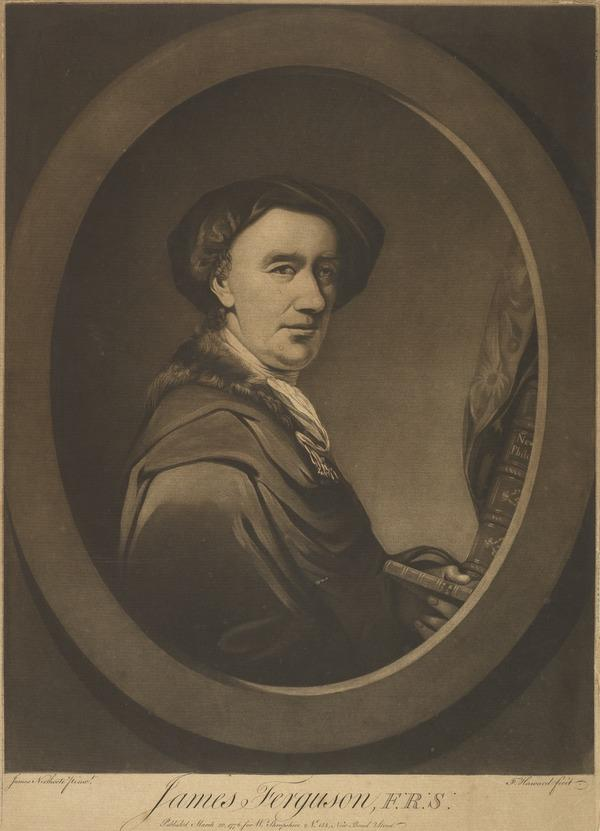 James Ferguson, 1710 - 1776. Mathematician, astronomer and miniature painter (Published 1776)