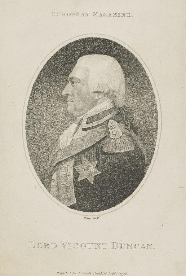 Adam Duncan, 1st Viscount Duncan of Camperdown, 1731 - 1804. Admiral (1798)