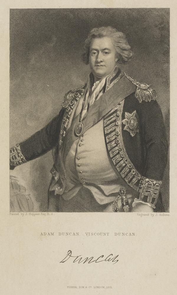 Adam Duncan, 1st Viscount Duncan of Camperdown, 1731 - 1804. Admiral (Published 1831)
