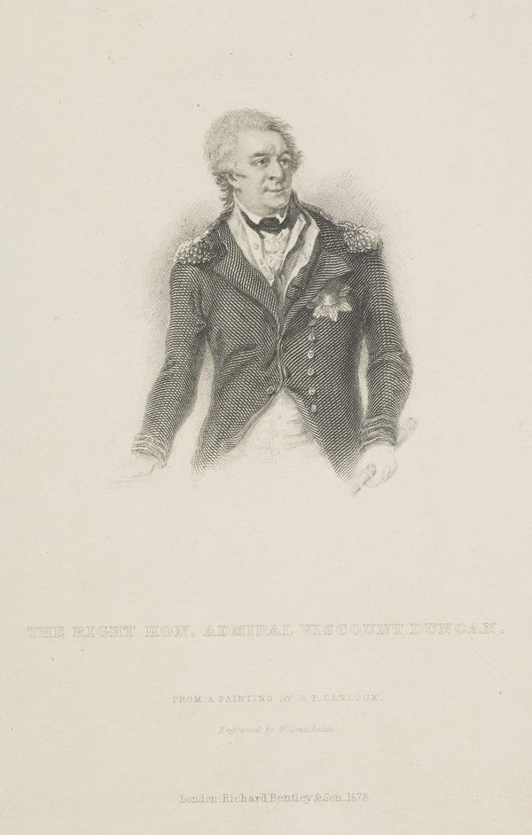 Adam Duncan, 1st Viscount Duncan of Camperdown, 1731 - 1804. Admiral (Published 1878)