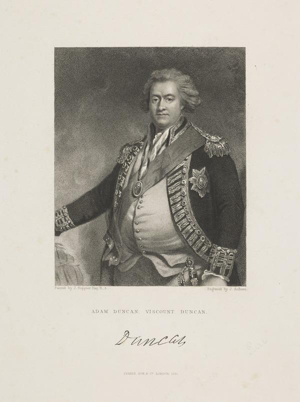 Adam Duncan, 1st Viscount Duncan of Camperdown, 1731 - 1804. Admiral (1846)