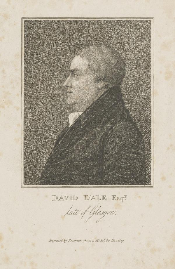 David Dale, 1739 - 1806. Manufacturer and philanthropist