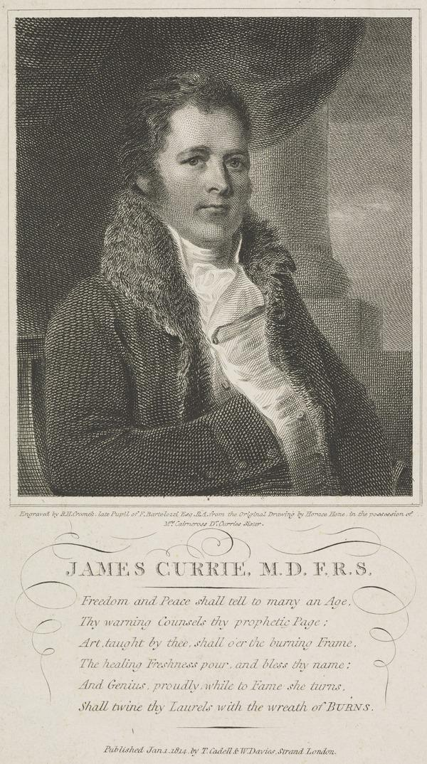 James Currie, 1756 - 1805. Physician and man of letters (Published 1814)