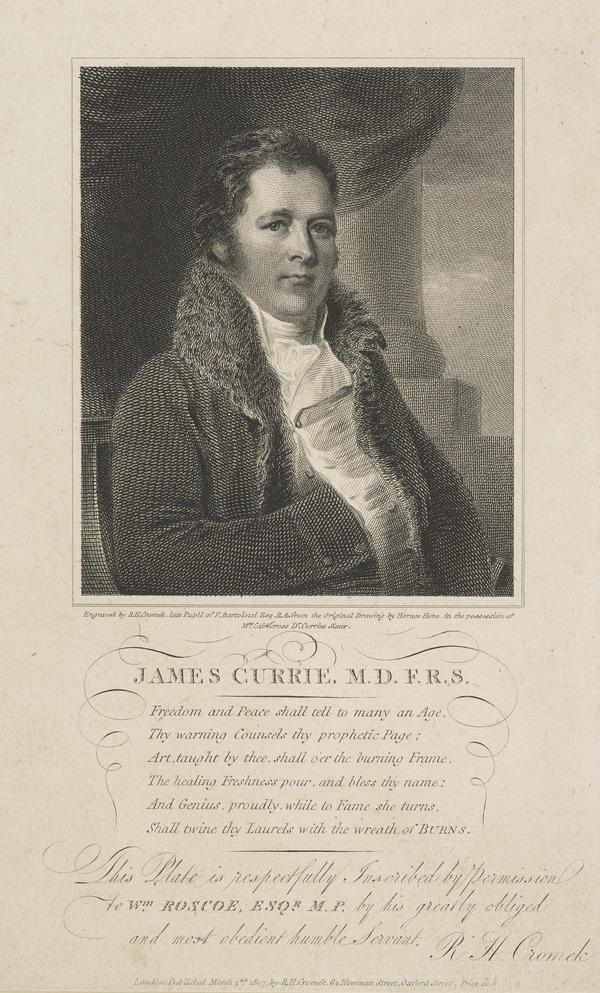 James Currie, 1756 - 1805. Physician and man of letters (Published 1807)
