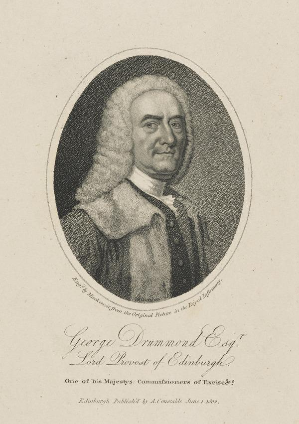 George Drummond, 1687 - 1766. Lord Provost of Edinburgh (Published 1802)