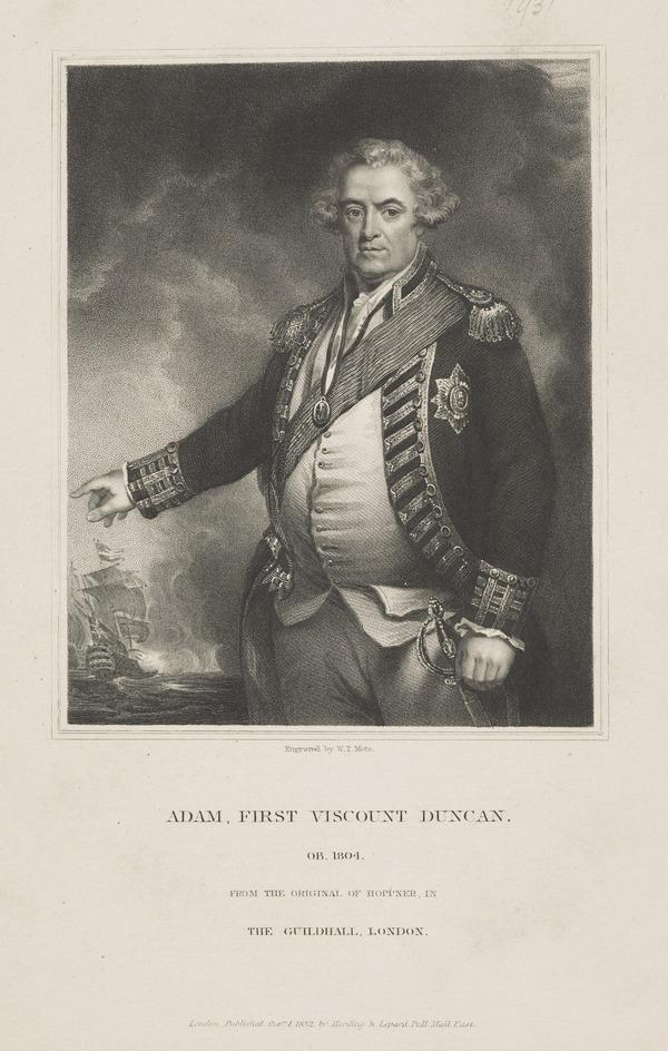 Adam Duncan, 1st Viscount Duncan of Camperdown, 1731 - 1804. Admiral (1832)