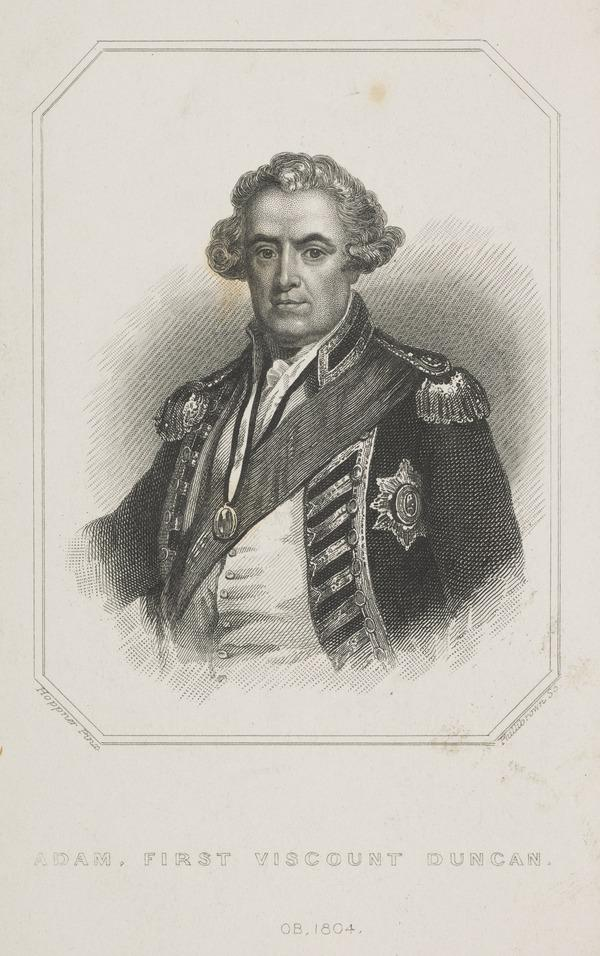 Adam Duncan, 1st Viscount Duncan of Camperdown, 1731 - 1804. Admiral