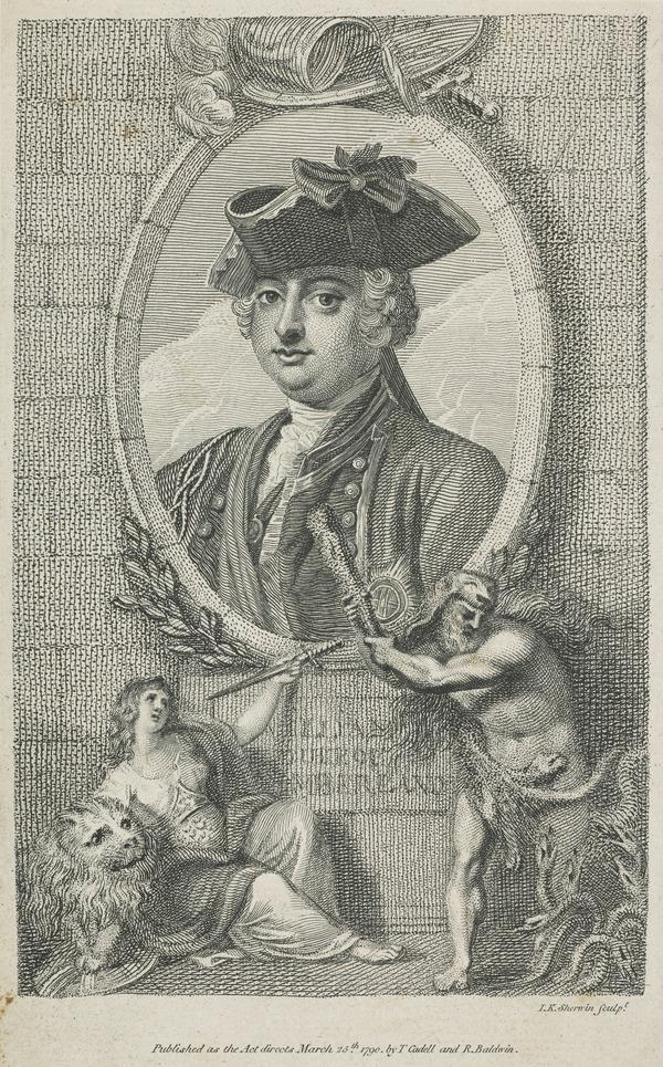 William Augustus, Duke of Cumberland, 1721 - 1765. Youngest son of George II (Published 1790)