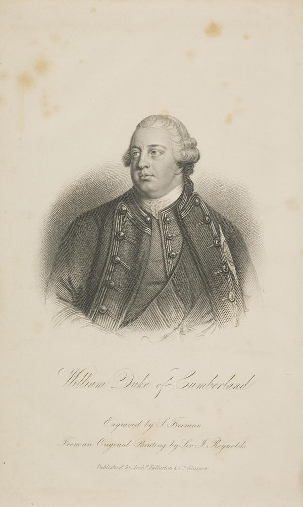 William Augustus, Duke of Cumberland, 1721 - 1765. Youngest son of George II