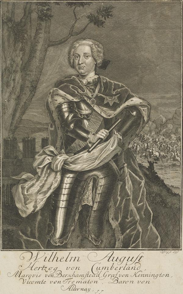William Augustus, Duke of Cumberland, 1721 - 1765. Youngest son of George II