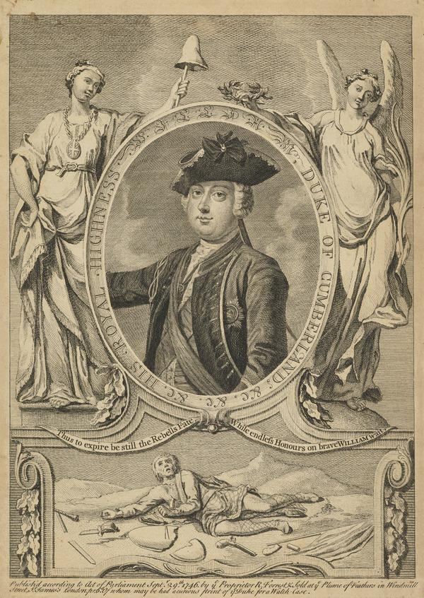 William Augustus, Duke of Cumberland, 1721 - 1765. Youngest son of George II (Published 1746)