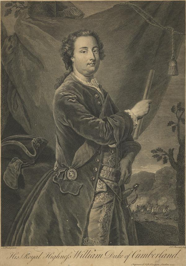 William Augustus, Duke of Cumberland, 1721 - 1765. Youngest son of George II (Published 1747)