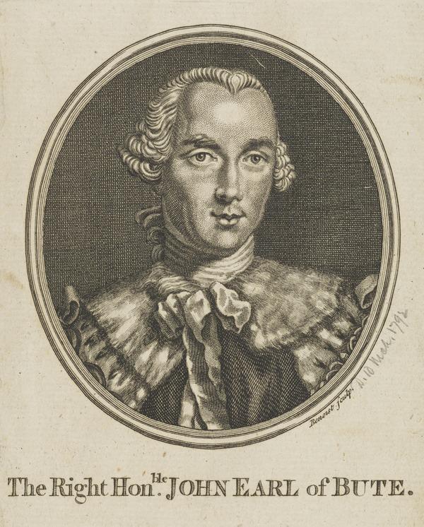 John Stuart, 3rd Earl of Bute, 1713 - 1792. Prime Minister