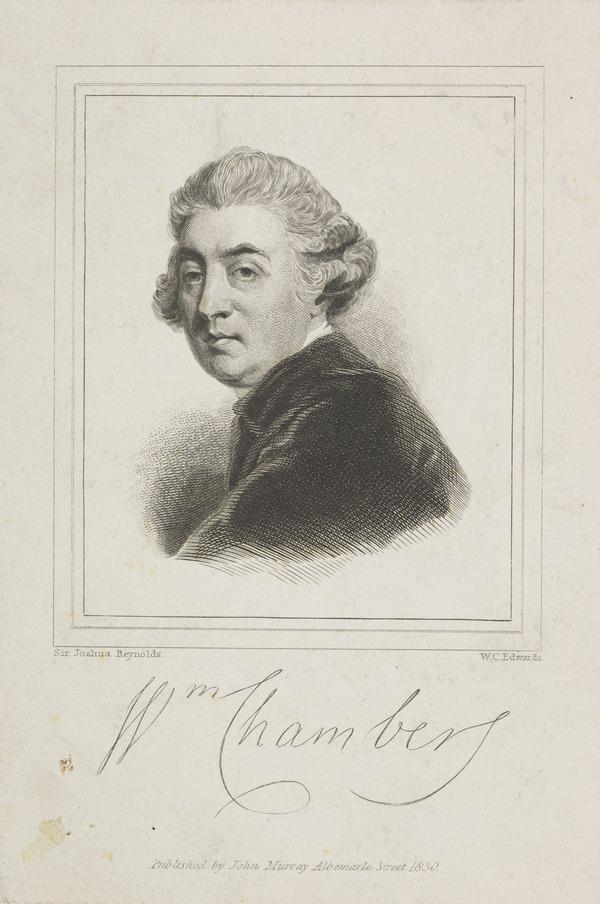 Sir William Chambers, 1722 - 1796. Architect (1830)