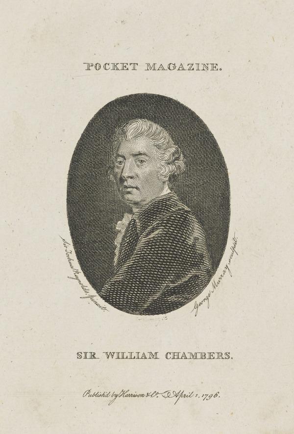 Sir William Chambers, 1726 - 1796. Architect (1796)
