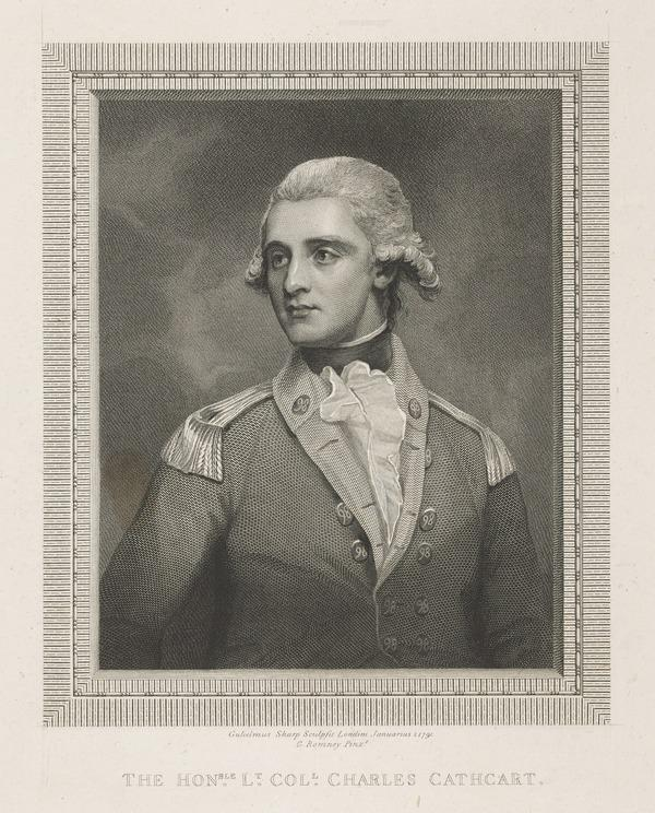 The Honourable Charles Allan Cathcart, 1759 - 1788. Brother of the 1st Earl Cathcart