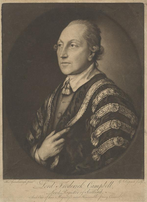 Lord Frederick Campbell, 1729 - 1816. Lord Clerk Register