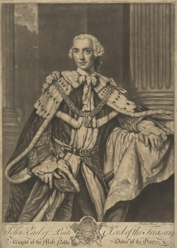 John Stuart, 3rd Earl of Bute, 1713 - 1792. Prime Minister (1763)