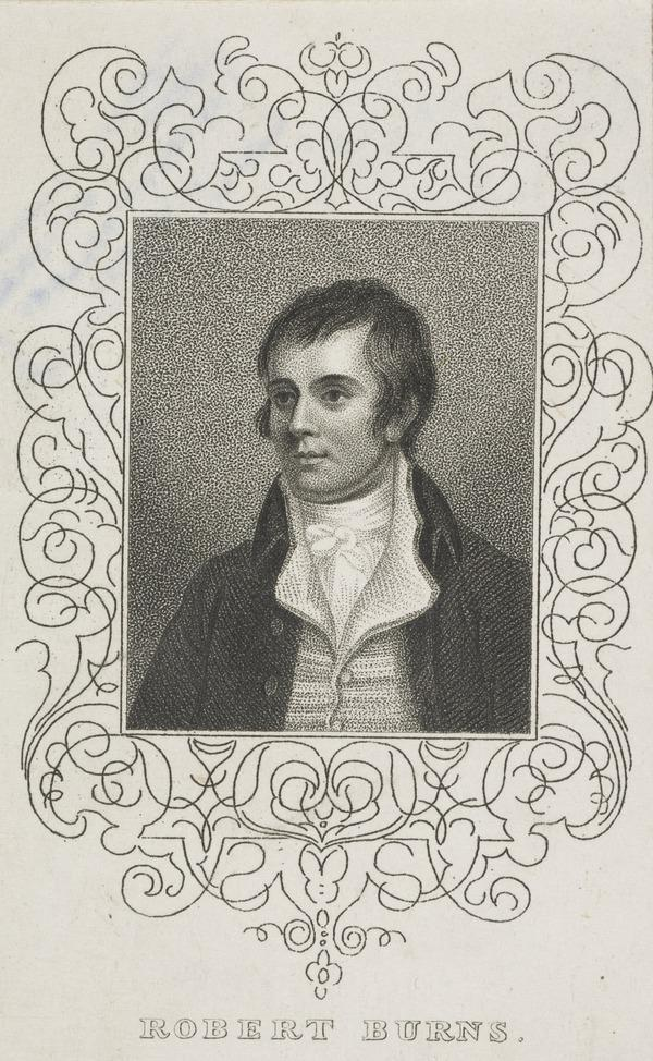 Robert Burns, 1759 - 1796. Poet (Published 1825)