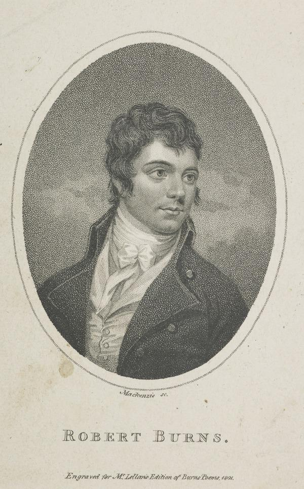 Robert Burns, 1759 - 1796. Poet (1801)