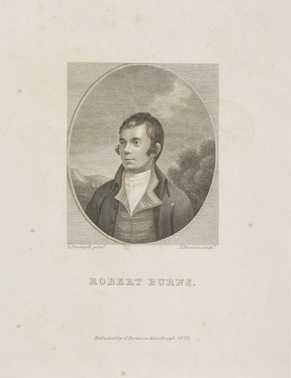Robert Burns, 1759 - 1796. Poet (Published 1822)