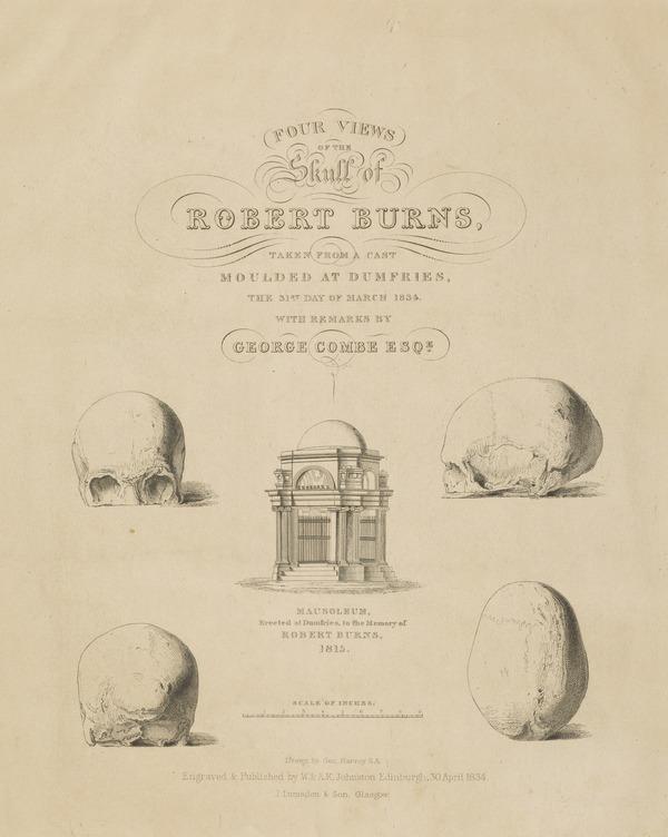 Robert Burns, 1759 - 1796. Poet (1834)